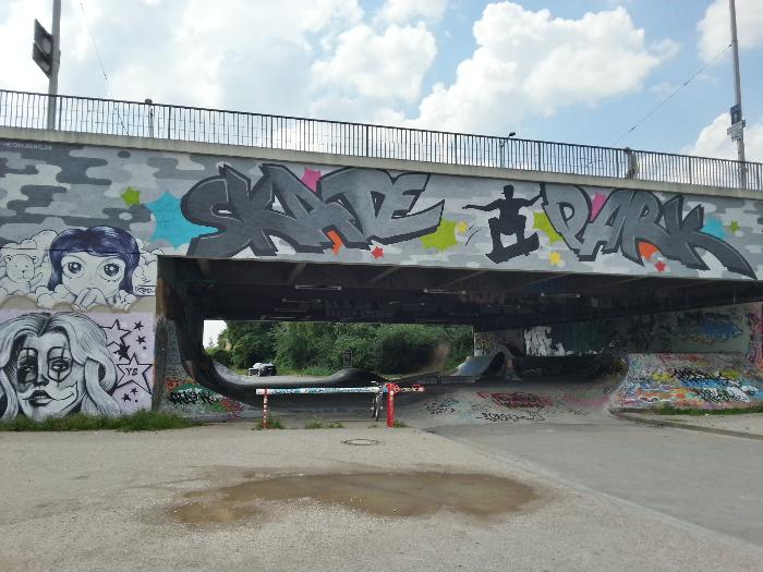 The skate park in Heidelberg.